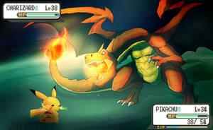 Pokemon Battle by shamserg