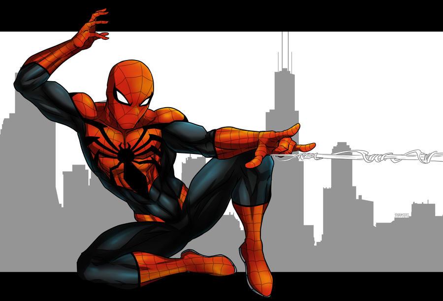 Spider-man redesign by shamserg