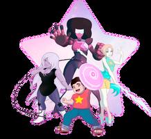 We Are the Crystal Gems! by shamserg