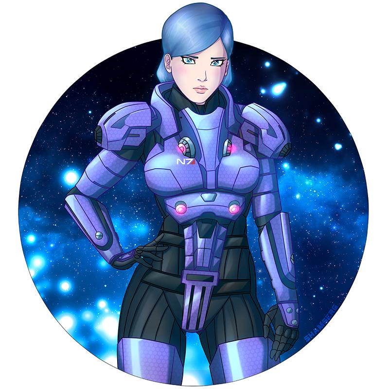 Mass Effect:Commander Celeste Shepard by shamserg