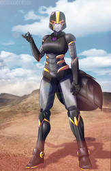 Trish Transformers OC commission by shamserg