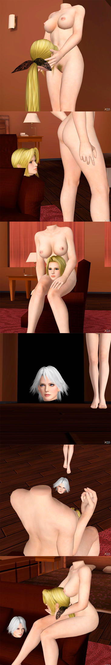 DoA Girls Naked NBM - Request (2) by Argeti