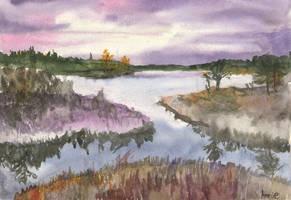 Purple swamp. by Annikabannika