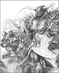 BEAST RIDER Caine and Haagar by ChuckWalton