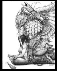 Dreadguard Miko with Dragon HA by ChuckWalton