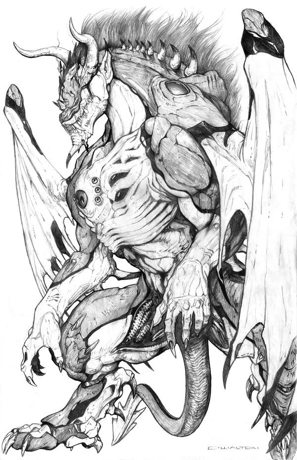 SPLICERS Metamorph Demon by ChuckWalton