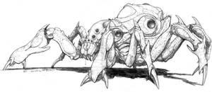 Splicers Metamorph Spider form by ChuckWalton