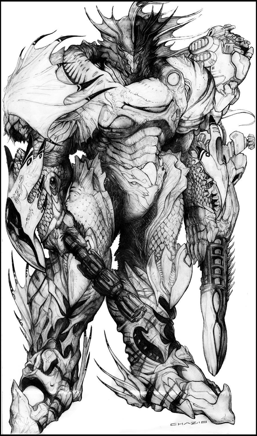 Lemurian Leviathan Bio-Armor by ChuckWalton