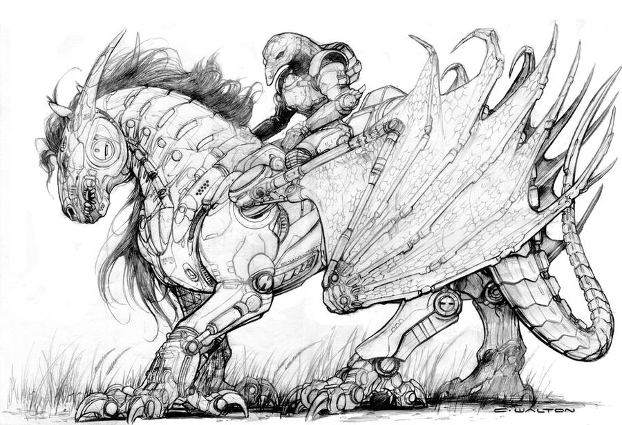 Black Market Robot Steed Dark Pegasus by ChuckWalton
