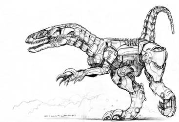 Black Market Robot Raptor by ChuckWalton
