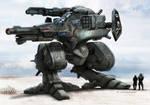 RIFTS  NG GUNBOT Robot Killer Color render