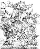 RIFTS NG-V61 GUNWOLF Robot by ChuckWalton