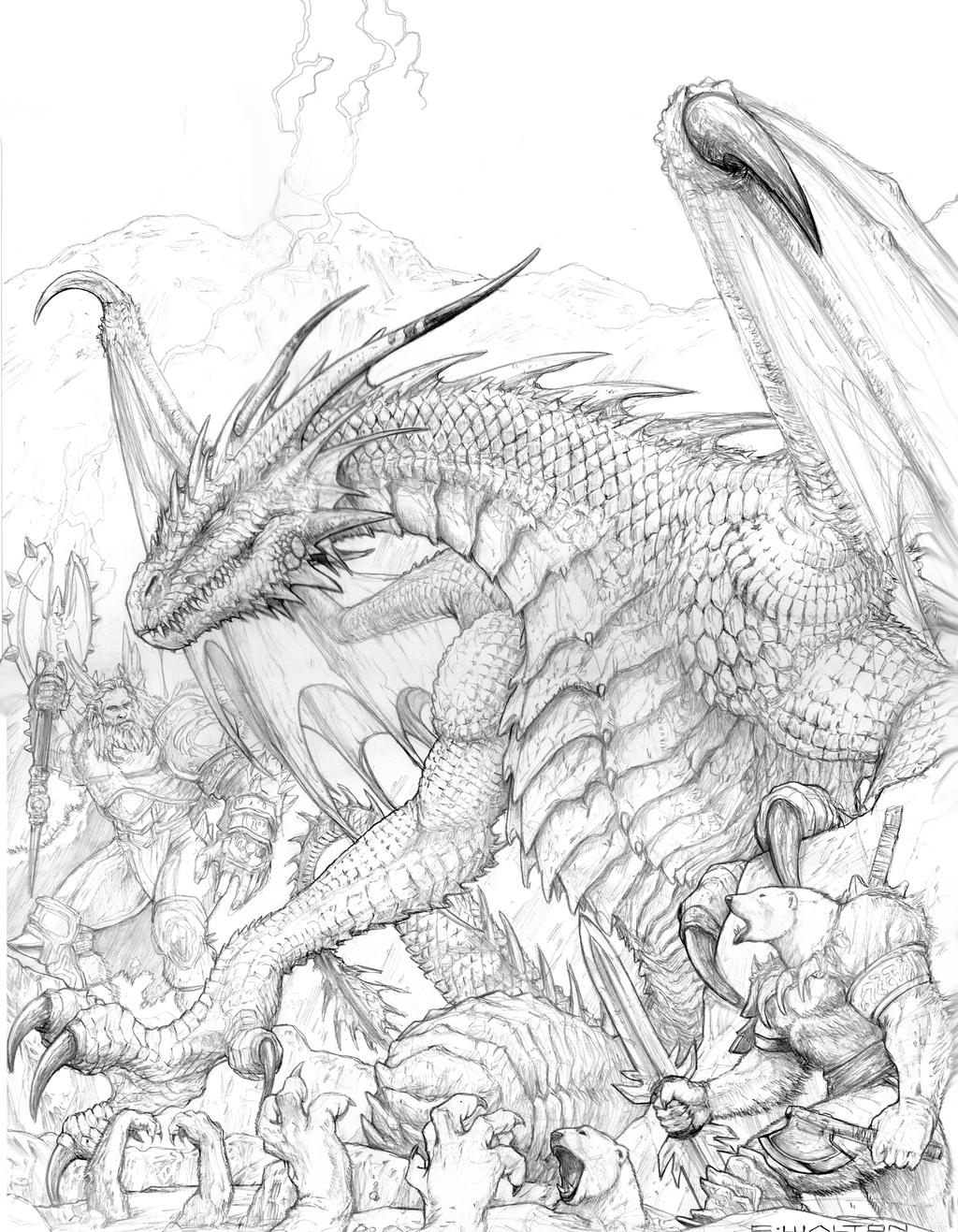 fantasy creatures coloring pages | RIFTER 64 Palladium Fantasy Ice Dwellers Cover by ...
