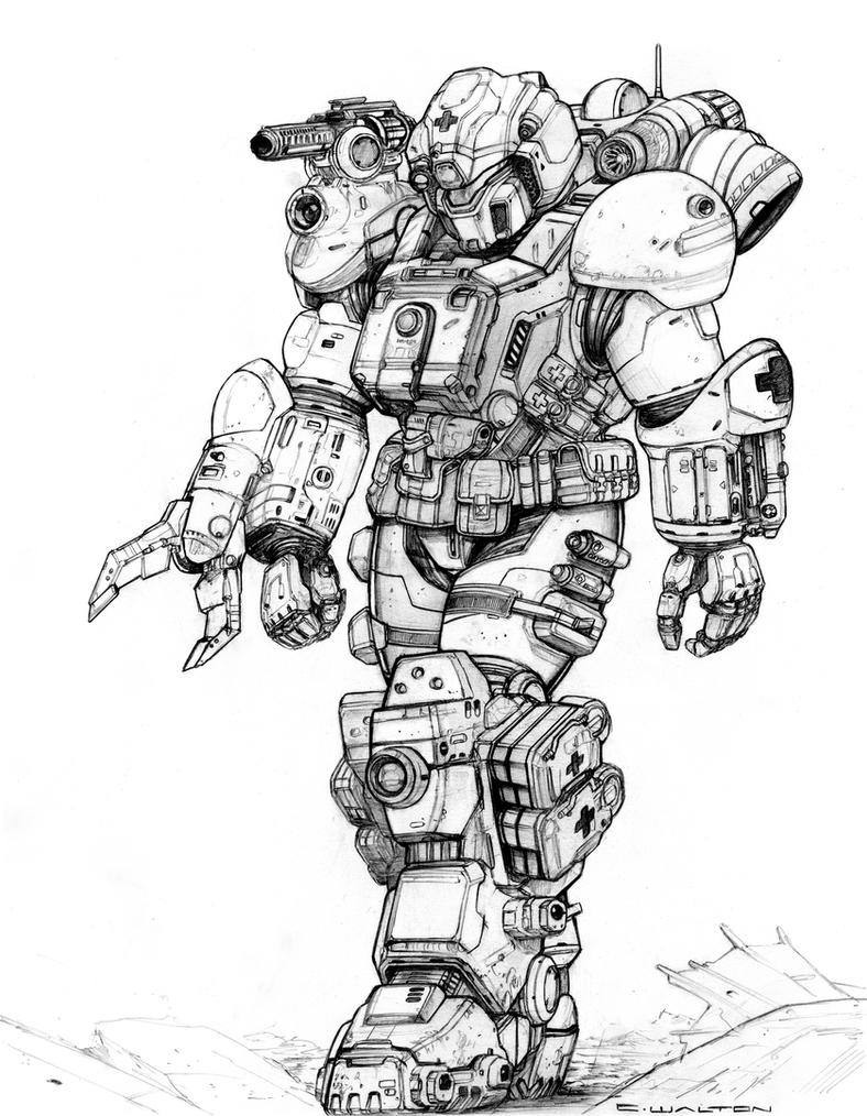 RIFTS NG Med Rescue White Knight Power Armor by