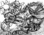 Gunwolf vs Allu Demon Bull