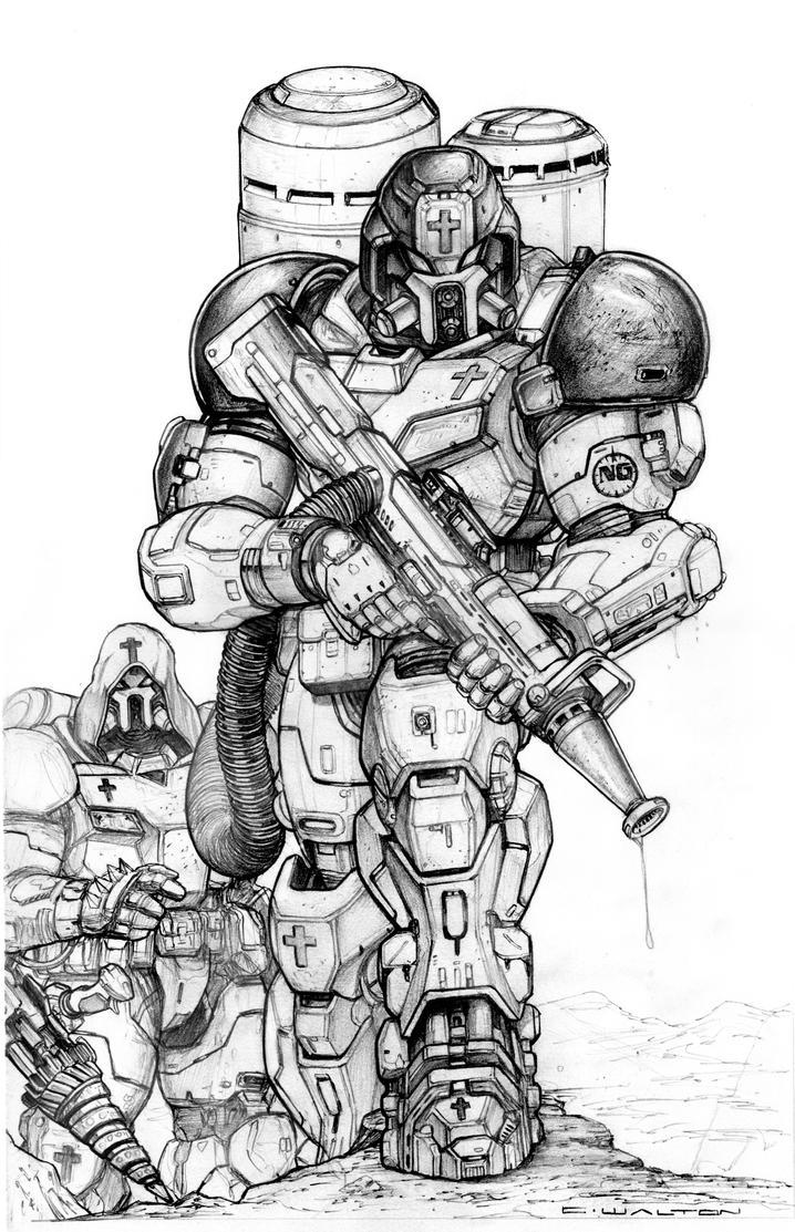NG XF103 Firefighter Power Armor by ChuckWalton