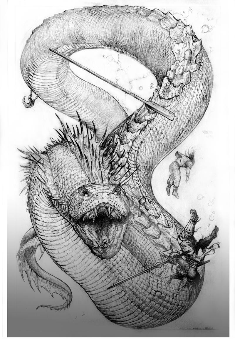 fantasy creatures coloring pages | Palladium Fantasy's Northern Strangler by ChuckWalton on ...