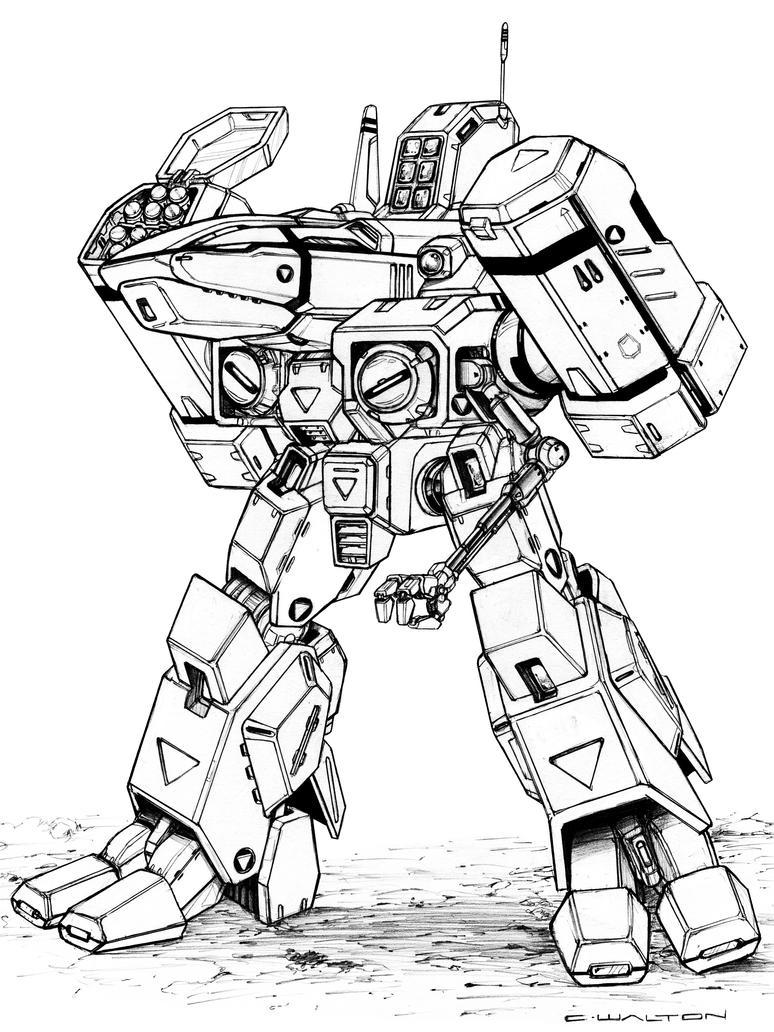 mech x4 coloring pages - robotech sdr 05 mk xv phalanx destroid by chuckwalton on