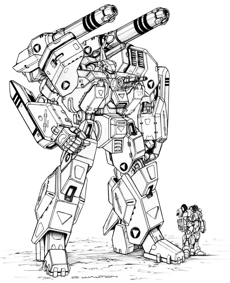 Robotech MBR 08 Mk V1 Spartan Destroid By ChuckWalton On