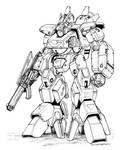 Robotech MBR 12 Mk Valiant Destroid