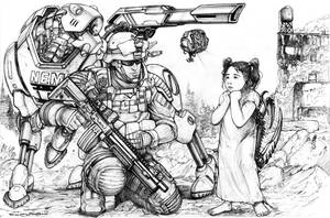 RIFTS Chaos Earth Death Doll or Living Dead Girl by ChuckWalton