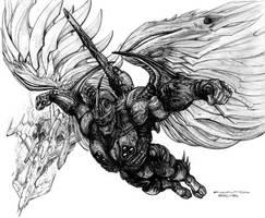 Drake Archangel Prototype Armor - half gray