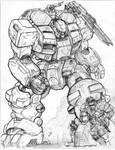 RIFTS NG-SE48 Sunfire Robot Vehicle and Juicer