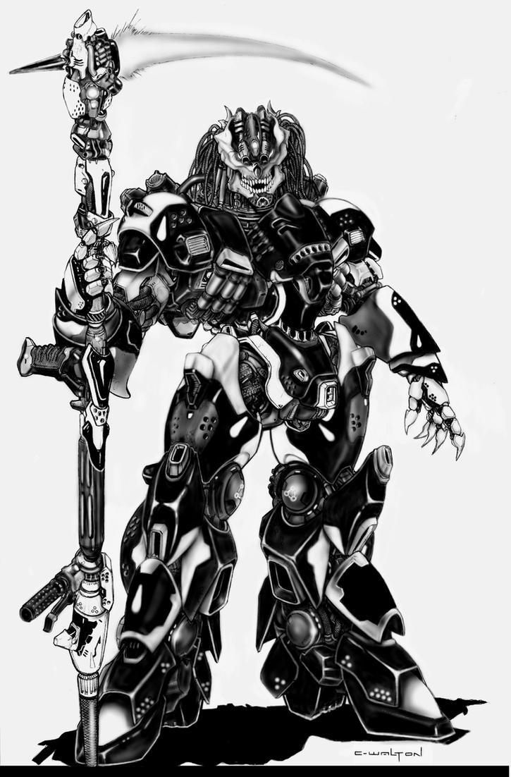 The Naruni Reaper Combat Mecha by ChuckWalton