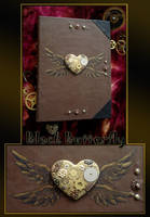 steampunk notebook by Si3art