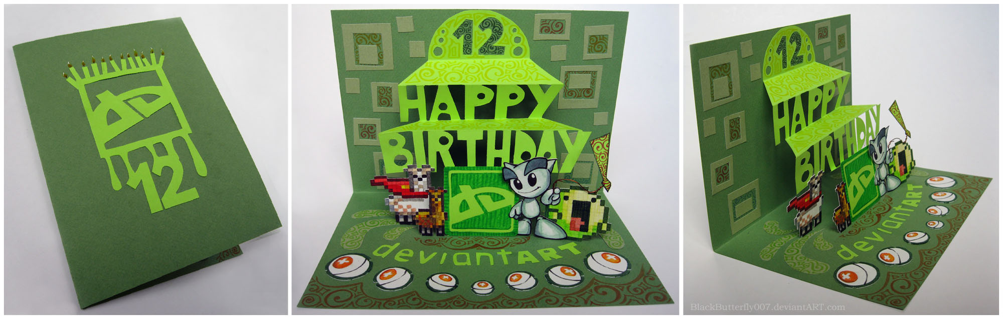 dA 12th B-Day card by Si3art