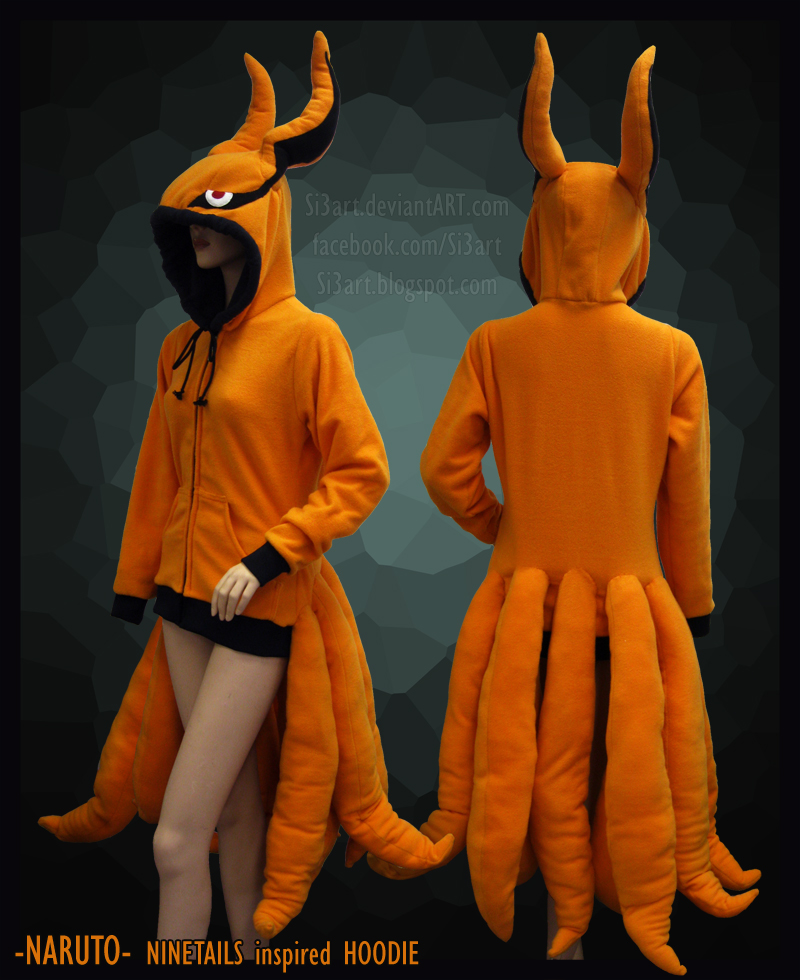 Naruto Ninetails Fox Hoodie by Si3art on DeviantArt