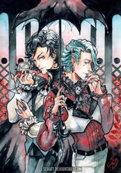 Vampire Jumin and V by Si3art