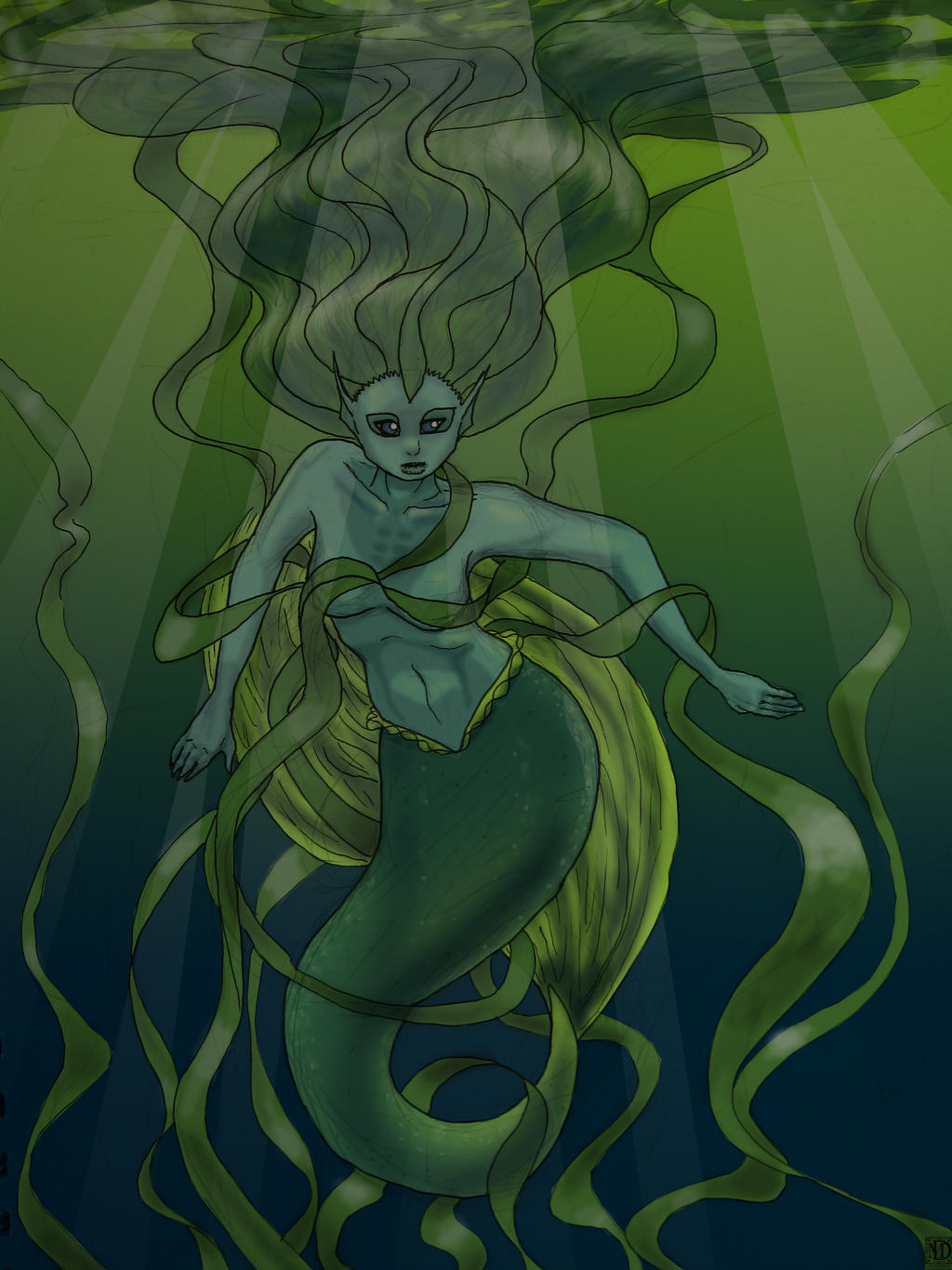 The Seaweed Woman by DeeDraws