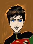 Robin smirk by DeeDraws