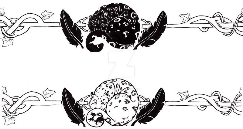 Snow Leopard Armband Tattoo by Samishii-Kami