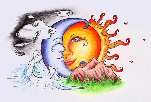 Sun Moon Tattoo Colour By Samishii-Kami On DeviantArt