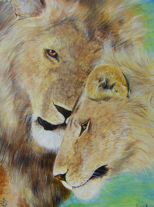 Lion Mates by Samishii-Kami