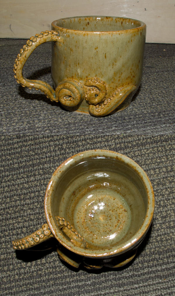 Octopus mug by Samishii-Kami