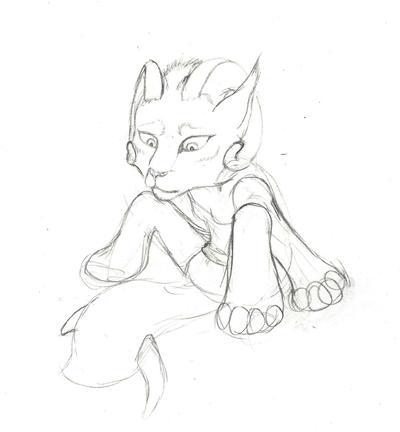 Kymera chibi sketch by Samishii-Kami