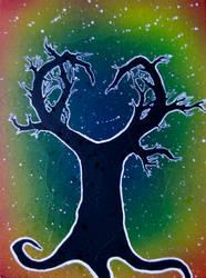 Heart Tree Silhouette by Samishii-Kami