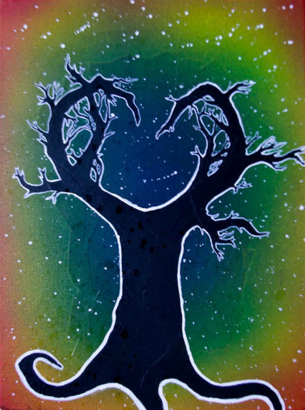 Heart Tree Silhouette by Samishii-Kami