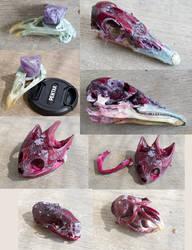 Crystal Skulls - For Sale by Samishii-Kami