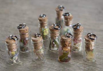 Mini Charm Bottles by Samishii-Kami