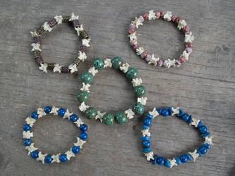 Vertebrae bracelets by Samishii-Kami