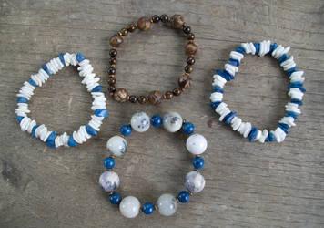 Shell and Stone bracelets by Samishii-Kami