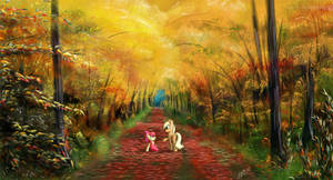 A walk in the autumn woods