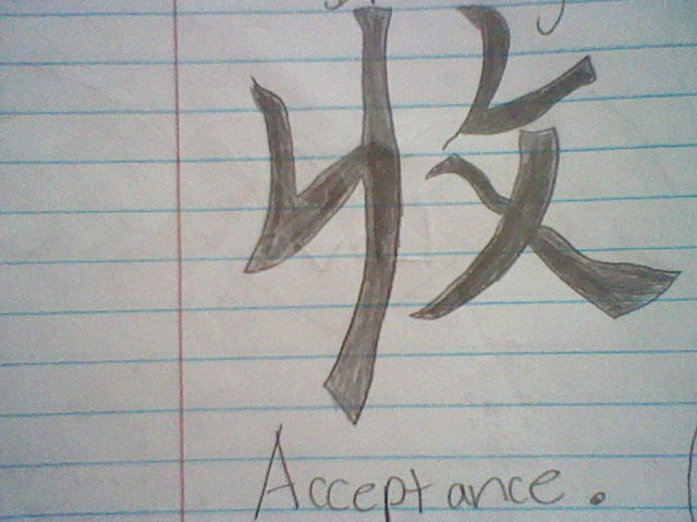 Chinese Symbol For Acceptance By Super Flamin Angel On Deviantart