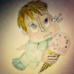Theodore with his ice cream. by MysteriousLiz