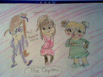 Brittany, Jeanette, and Eleanor from ALVINNN! by MysteriousLiz