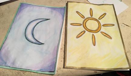 Solar + Lunar Cards by zukleton
